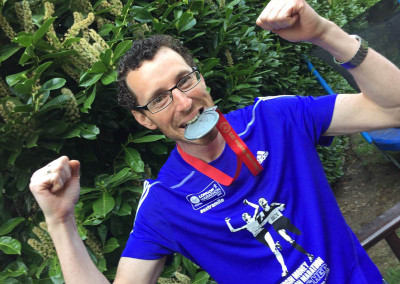Gershon Portnoi raies £6,500 for DRF running the Virgin London Marathon