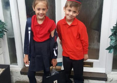 Well done to Amelie and Asher who counted the Omer to raise £100 for DRF