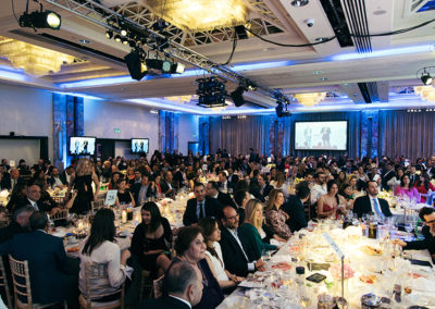 More than 700 guests attended the dinner at the Lancaster London Hotel