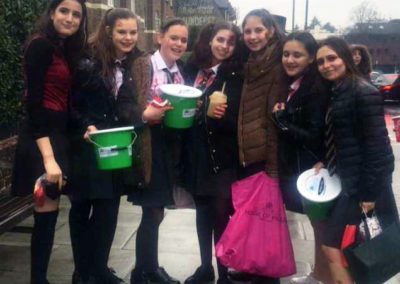 Dalia Bornstein and friends raise more than £500 on Purim for DRF