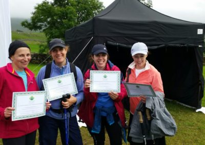 Hikers with their certificates