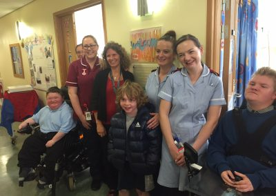 Local Duchenne families attended the event