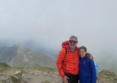 Martyn and Jessica Jacobs in Snowdonia
