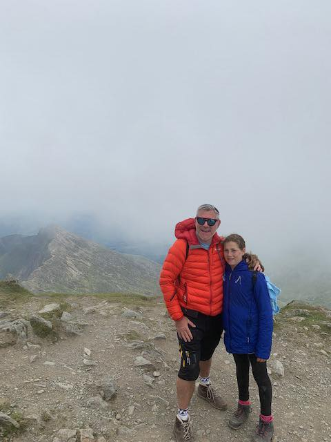 Martyn and Jessica Jacobs at Mount Snowdon